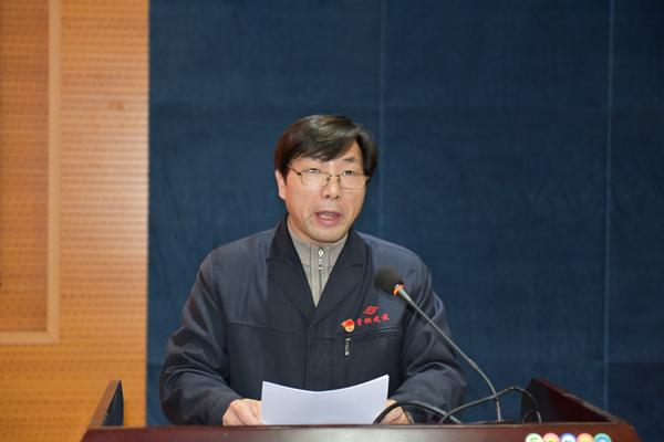 北京首钢建设集团人力资源部部长张学平讲话.JPG